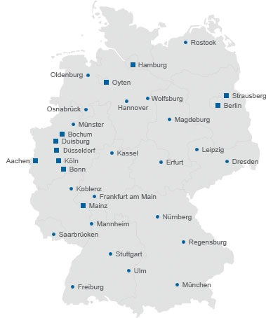 Standorte Der Gebäudereinigung Niederberger Gruppe